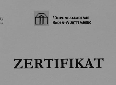 Zertifikatsabschluss